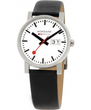 Mondaine A669-30300-11SBB Evo Big Date White Leather Strap Watch