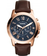 Fossil FS5068 Mens Grant Brown Leather Chronograph Watch