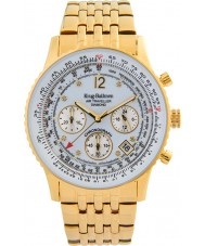 Krug-Baumen 400101DS Air Traveller White Dial Steel-Gold Strap