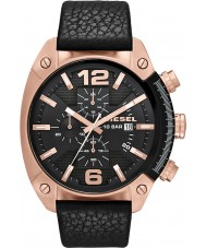 Diesel DZ4297 Mens Overflow Chronograph Black Leather Strap Watch