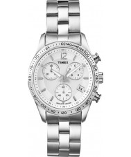 Timex Originals T2P059 Ladies All Chrome Dress Chronograph Watch