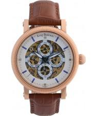 Krug-Baumen 60252DM Mens Majestic Brown Leather Strap Watch