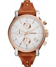 Fossil ES3837 Ladies Original Boyfriend Brown Leather Chronograph Watch