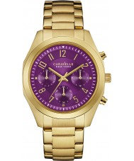 Caravelle New York 44L200 Ladies Melissa Gold Chronograph Watch
