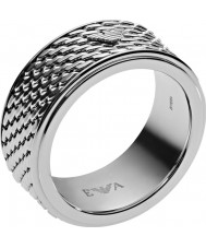 Emporio Armani Mens Deco Silver Ring