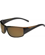 Bolle Keelback Shiny Brown Polarized AG-14 Sunglasses