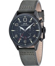 AVI-8 AV-4031-07 Mens Hawker Harrier II Grey Leather Strap Chronograph Watch