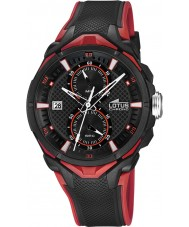 Lotus 18107-8 Mens All Black Rubber Chronograph Watch