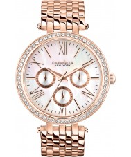 Caravelle New York 44N101 Ladies Glitz Rose Gold Plated Bracelet Watch