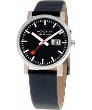 Mondaine A669-30300-14SBB Evo Big Date Black Leather Strap Watch
