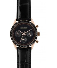Zadig and Voltaire ZVM115 Master Black Crock Leather Chronograph Watch