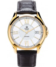 Royal London 41152-03 Mens Automatic Black and Steel Watch
