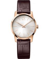 Calvin Klein K2G23620 Ladies City Brown Leather Strap Watch