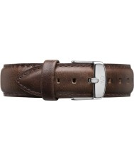 Daniel Wellington DW00200090 Dapper 19mm Bristol Silver Spare Strap