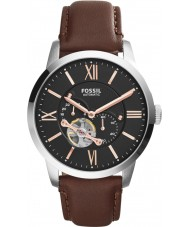 Fossil ME3061 Mens Townsman Brown Leather Automatic Watch