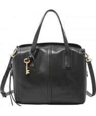 Fossil ZB6847001 Ladies Emma Black Satchel