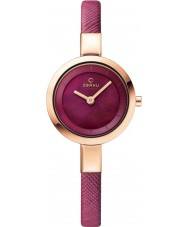 Obaku V129LXVQRD Ladies Purple Calf Leather Strap Watch