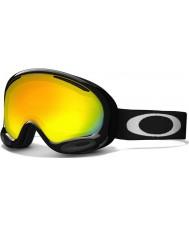 Oakley 59-631 A-Frame 2.0 Jet Black - Fire Iridium Ski Goggles