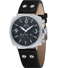 AVI-8 AV-4022-03 Mens Lancaster Bomber Black Leather Strap Chronograph Watch