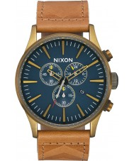 Nixon A405-2731 Mens Sentry Chrono Leather Watch