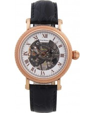 Krug Baümen 60152KM Mens Prestige Black Leather Strap Watch