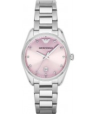 Emporio Armani AR6063 Ladies Classic Rose Silver Watch