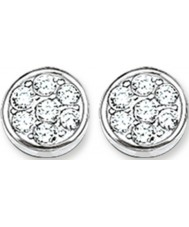 Thomas Sabo H1848-051-14 Ladies Sparkling Circles Zirconia Pave Disc Stud Earrings