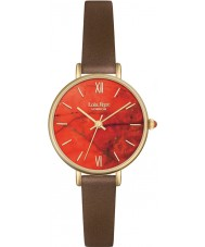 Lola Rose LR2034 Ladies Metallic Brown Leather Strap Watch