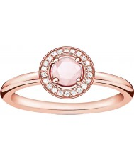 Thomas Sabo D-TR0009-925-9-52 Ladies Glam and Soul Rose Gold Plated Diamond Ring - Size M.5 (EU 52)
