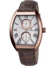 Thomas Earnshaw ES-8004-04 Mens Holborn Multifunctional Brown Leather Strap Watch