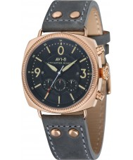 AVI-8 AV-4022-04 Mens Lancaster Bomber Grey Leather Strap Chronograph Watch