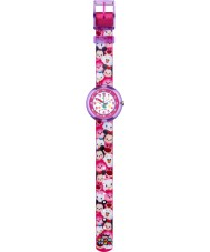 Flik Flak FLNP026 Girls Disney Tsum Tsum Multicoloured Textile Strap Watch