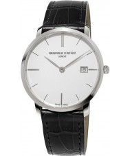 Frederique Constant FC-220S5S6 Slimline Gents Black Leather Strap Watch