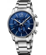 Calvin Klein K2G2714N Mens City Blue Silver Chronograph Watch