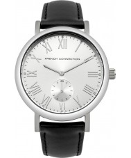 French Connection FC1259B Mens Black Padded Leather Strap Watch