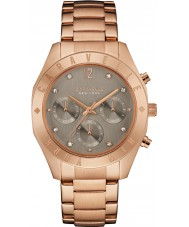 Caravelle New York 44L190 Ladies Boyfriend Rose Gold Chronograph Watch