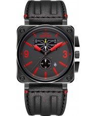 Dogfight DF0045 Mens Wingman Black Leather Strap Watch