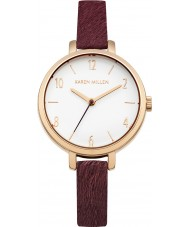 Karen Millen KM138VRG Ladies Purple Leather Strap Watch