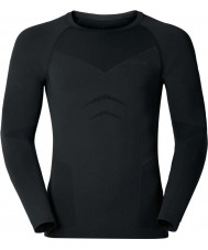 Odlo Mens Evolution Black Graphite Grey Baselayer Top