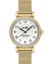 Coach 14502652 Ladies Madison Gold Plated Mesh Bracelet Watch