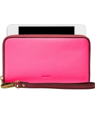 Fossil SL7245673 Ladies Emma Neon Pink RFID Smartphone Purse