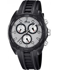 Lotus 18159-1 Mens White Black Rubber Chronograph Watch