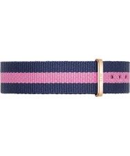 Daniel Wellington DW00200033 Ladies Classic Winchester 36mm Rose Gold Blue and Pink Nylon Spare Strap