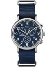 Timex Originals TW2P71300 Weekender Slip Thru Blue Chrono Watch