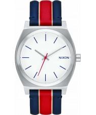 Nixon A045-1854 Mens Time Teller White Stripes Watch