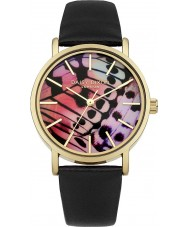 Daisy Dixon DD021BG Ladies Butterfly Wing Printed Black PU Leather Strap Watch