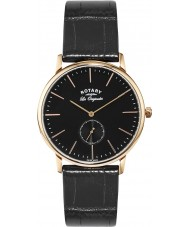 Rotary GS90053-04 Mens Les Originales Rose Gold Black Watch