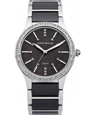 Karen Millen KM122BM Ladies Steel and Black Ceramic Bracelet Watch