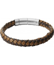 Fossil JF00509797 Mens Vintage Casual Brown Leather Bracelet