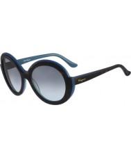 Salvatore Ferragamo Ladies SF725S Havana Blue Sunglasses